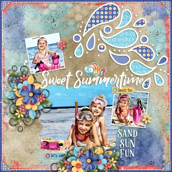 Kit Nautical Nights by Jumpstart Designs. Template Summer Splash #2 by Heartstrings Scrap Art Photo from Desktop Nexus.