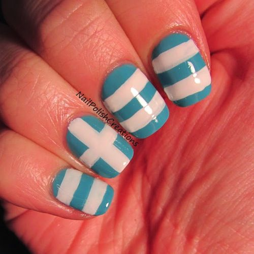Complete World Cup Nail Art 2014 Gallery - #greece #soccernails