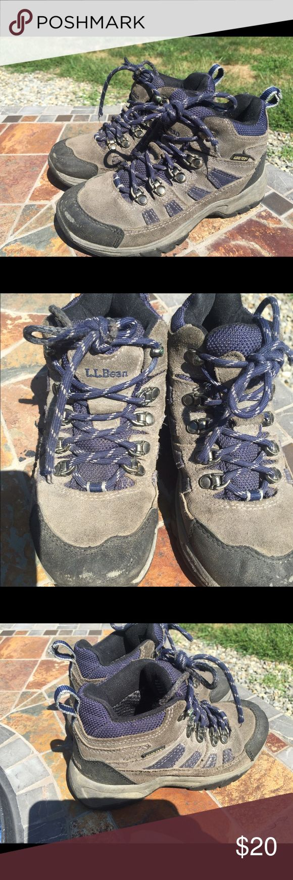 Girls Hiking Boots Size 2 girls hiking shoes. Waterproof and Gore-tex! Cute and very comfortable! Some scuffs and signs of wear. Soles are in great condition! Great condition! Retails $80 new! Will ship within 24 hours. L.L. Bean Shoes Boots