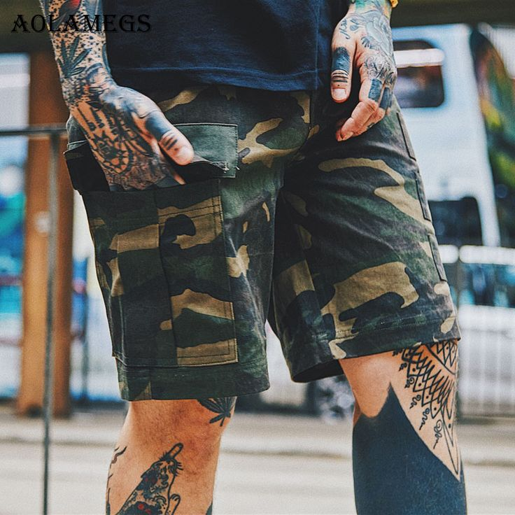 Aolamegs Men Casual Shorts Camouflage Street Style Cargo Shorts Hommes High Quality Youth Summer Short Joggers Camo Sweatpants #Affiliate