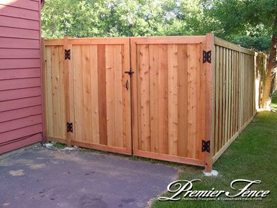 privacy fence double gate sagging | privacy framed double