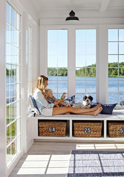 Even if you don't have this Michigan cottage's view, its details can bring relaxed vacation style to your home.