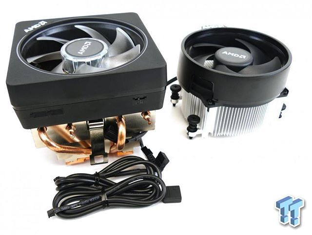 Here S The New Amd Wraith Prism Cooler Compared To The Spire Cooler The Wraith Prism Come With The Ryzen7 Cpu And The Spire With The Amd Prism Graphic Card