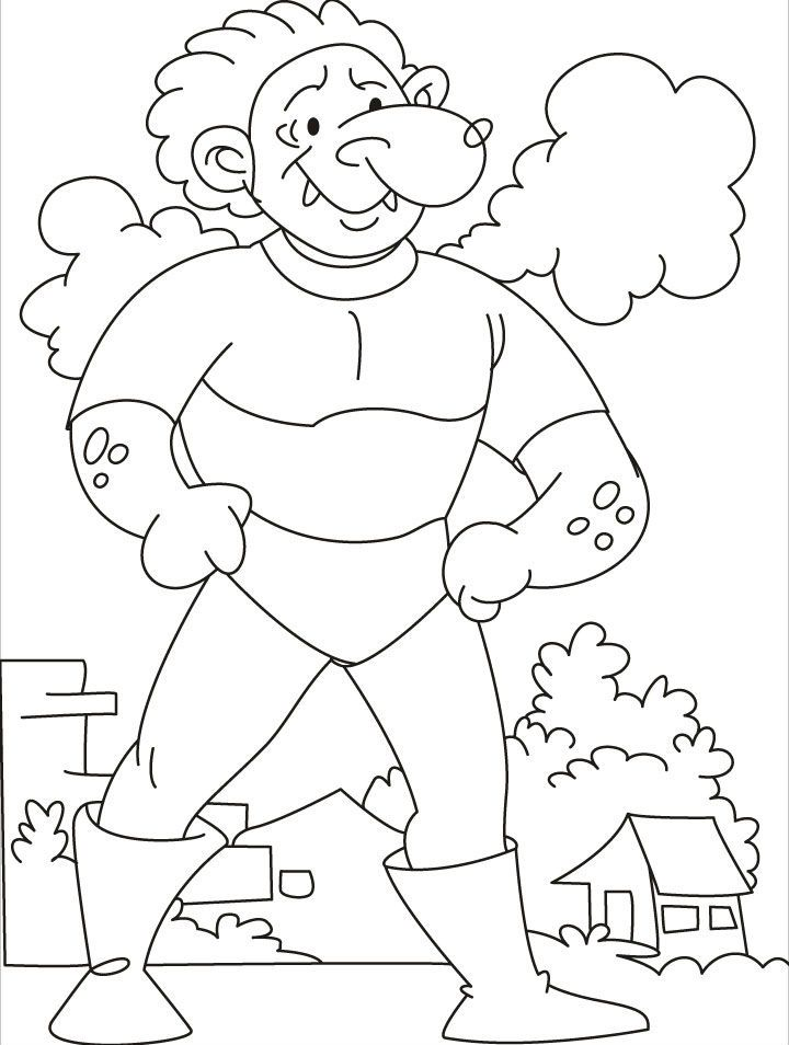 36 best trolls and giants images on pinterest | coloring, gnomes ... - Selfish Giant Coloring Pages