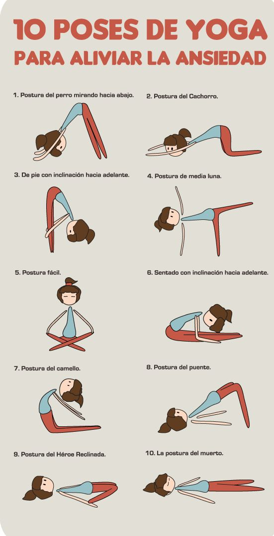 Reduce la ansiedad con estas 10 poses de yoga ;)                                                                                                                                                                                 Más