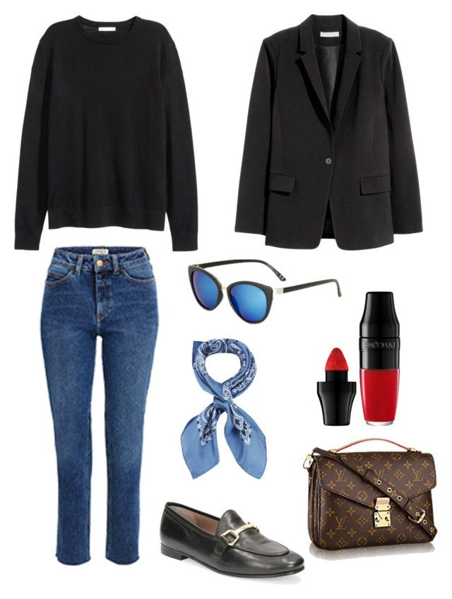 """""""Untitled #232"""" by stinasolheim on Polyvore featuring Manipuri, H&M, Lancôme and Topshop"""