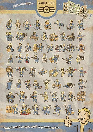 Vault Boy Fallout Perks Poster Medium - $21.94                                                                                                                                                                                 More