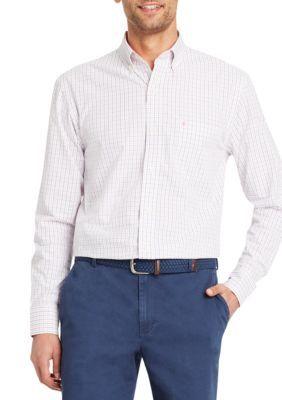 Izod Men's Long Sleeve Flex Tattersall Shirt - Confetti - 2Xl