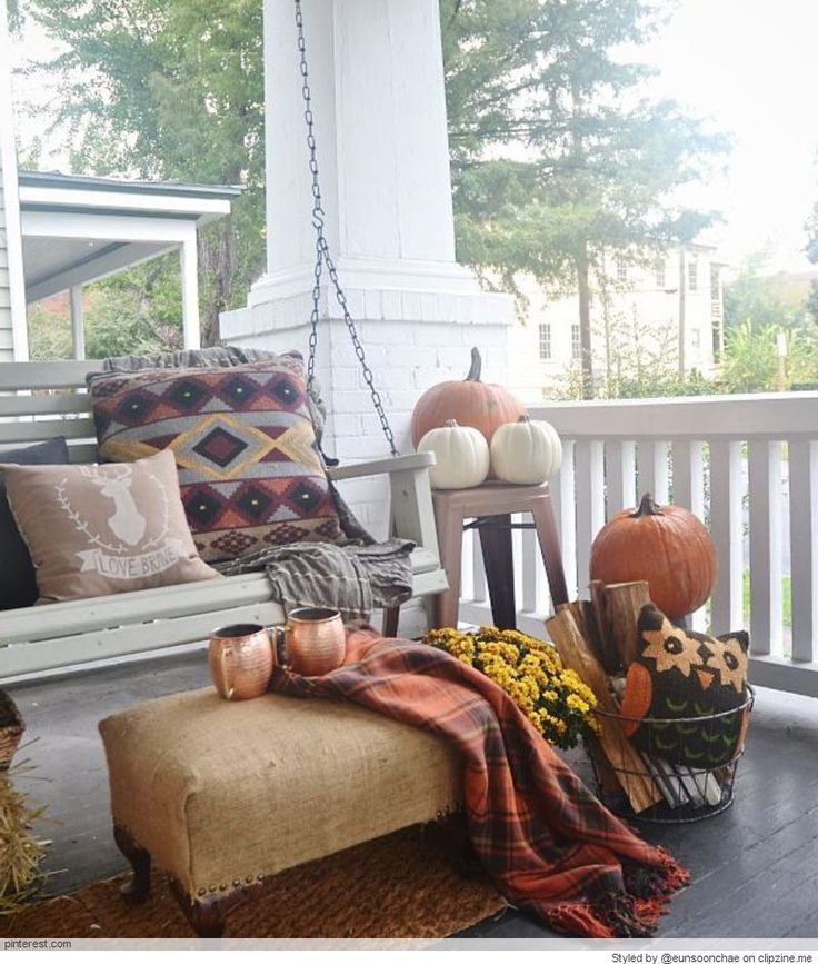 Fall Porch Decorating Ideas: