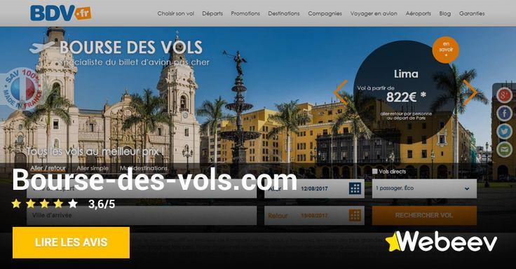 Avis sur le site Bourse-des-vols.com , site de réservation de billet d'avion pas cher en ligne. Comparateur de prix des billets d'avion à acheter sur internet.