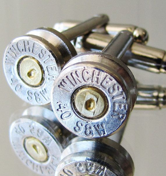 FREE SHIPPING 40 S&W Winchester Mens Cufflinks by BulletVarieties