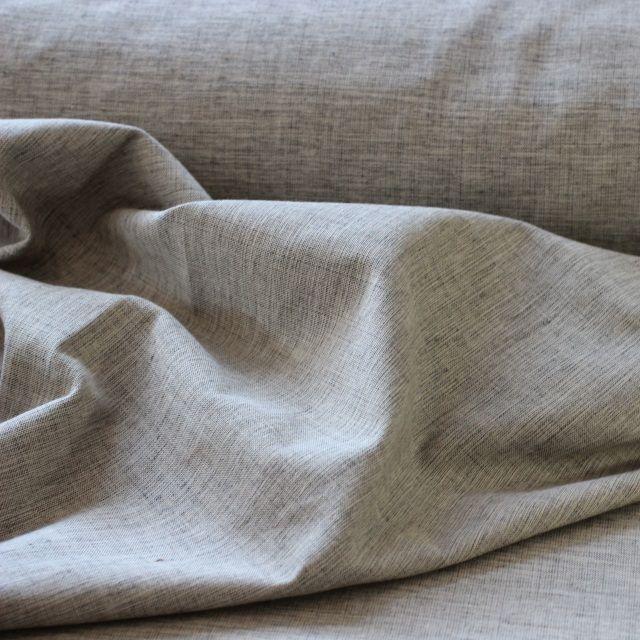 Organic grey crossweave