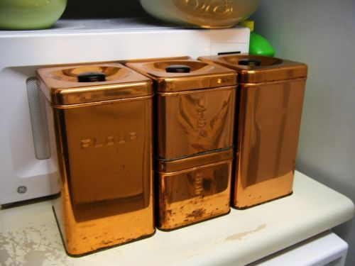 Copper Canister Set Kitchen
