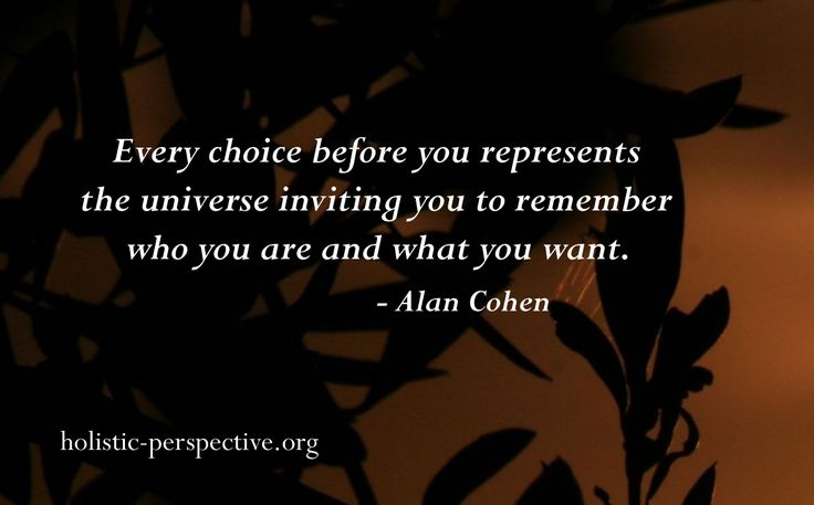 Theory of Holistic Perspective | Remember who you are
