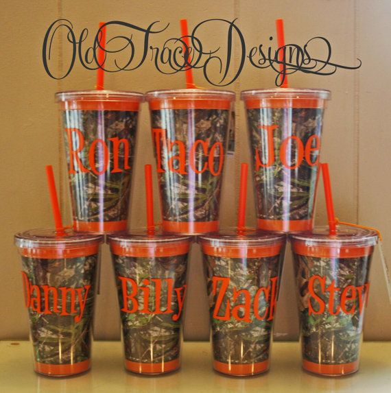 Camo Personalized Straw Cup by OldTrace, $13.00 - now back in stock!