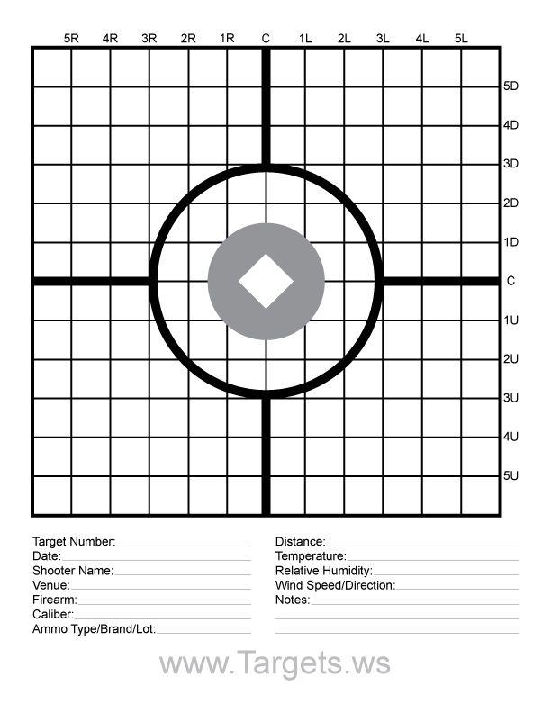 M4 Zeroing Target Printable   Shooting targets, Firearms
