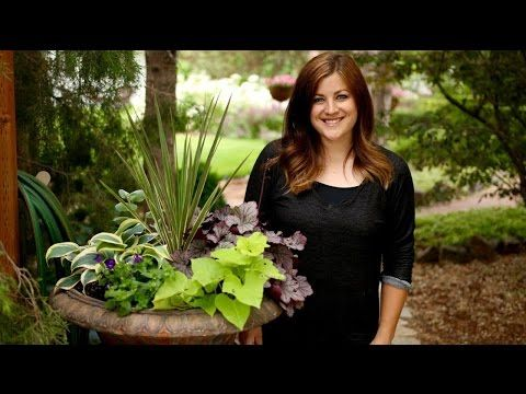 A Container Garden With Color and Texture for the Shade - YouTube