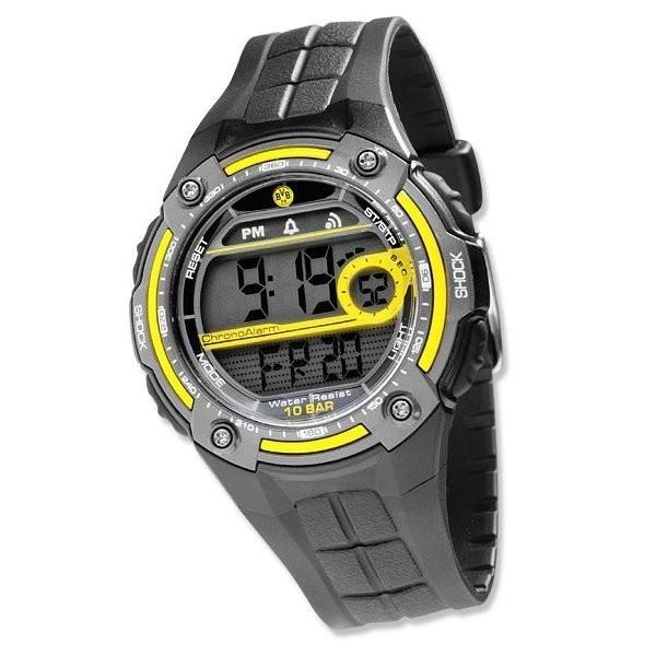 BVB LCD Uhr Emblem Borussia Dortmund -  #Bundesliga, #Geschenkideen, #Uhren, #Schmuck, Fußball, #Soccer, #Fanartikel - http://www.multifanshop.de