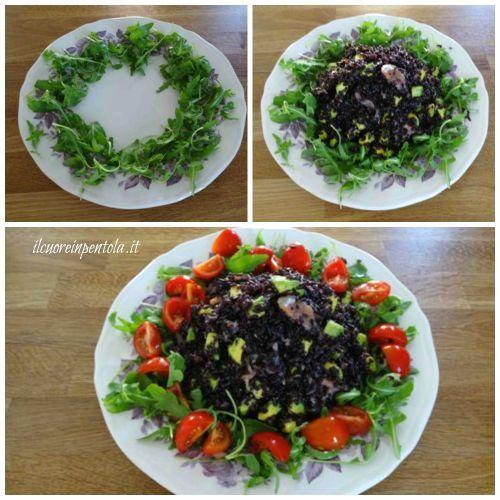 come disporre insalata di riso nel piatto