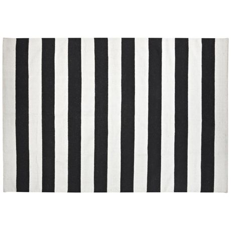 Concorde Floor Rug 200x300cm  Black/White
