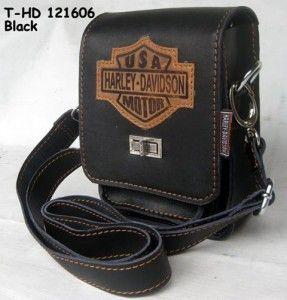 Tas Kulit Harley Davidson [T-121606-BLACK]