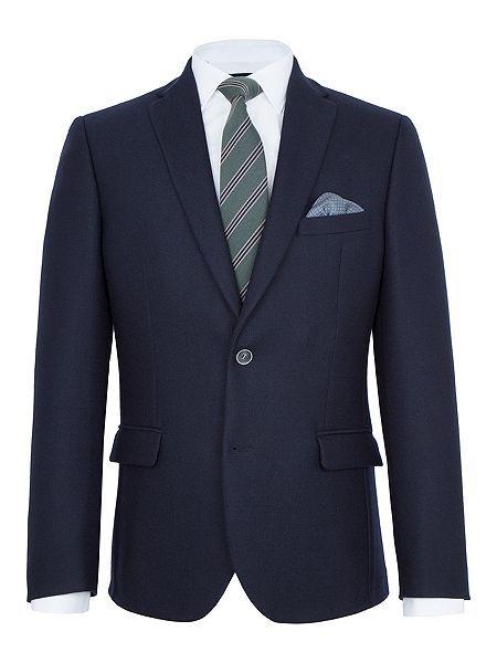 Barnes Textured Wool Slim-Fit Blazer