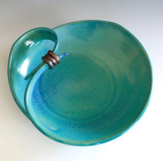 love the post wrap idea Modern Hostess Platter handmade ceramic dish by ocpottery on Etsy, $45.00