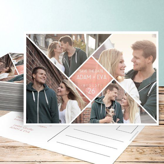 Facetten Karten Design Hochzeitskarten Save The Date