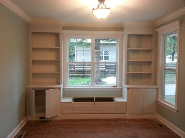 Built In Cabinets Around Window Google Search Cheap Basement Ideas Small Basement Remodel
