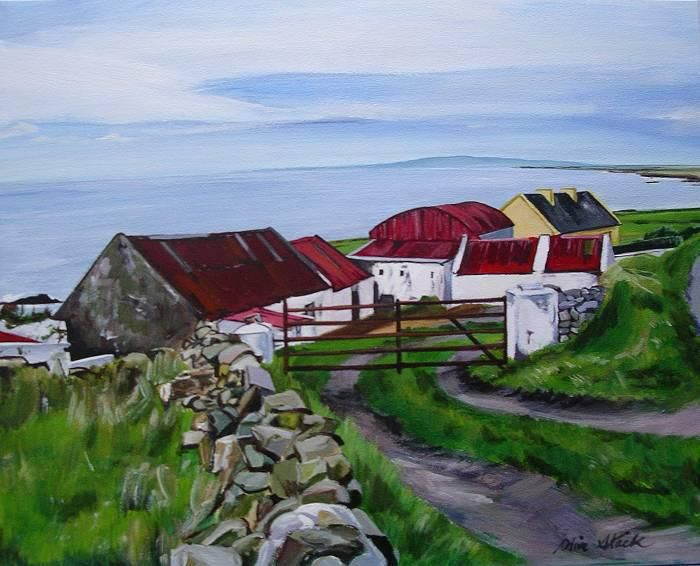 'Kerryhead Farmhouse' Oil on Gessobord by Olive Stack Sold