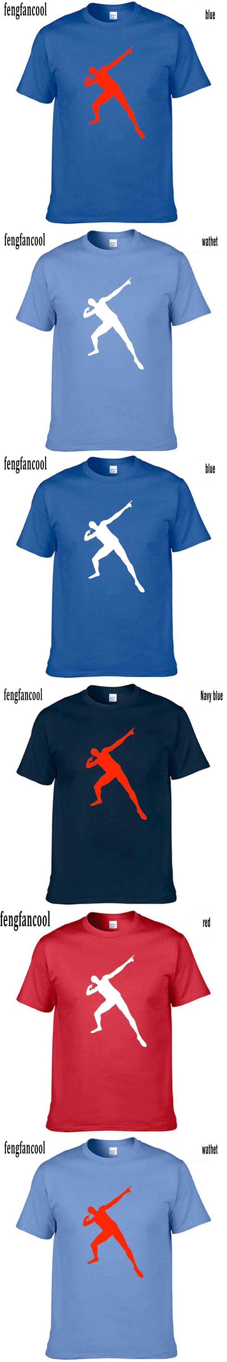 fengfancool brand Women Men Usain Bolt T Shirt Men Short Sleeve Cotton Casual T-Shirt Hip Hop men fashion tops