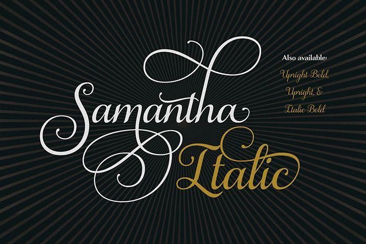 Samantha Script Italic #ad.