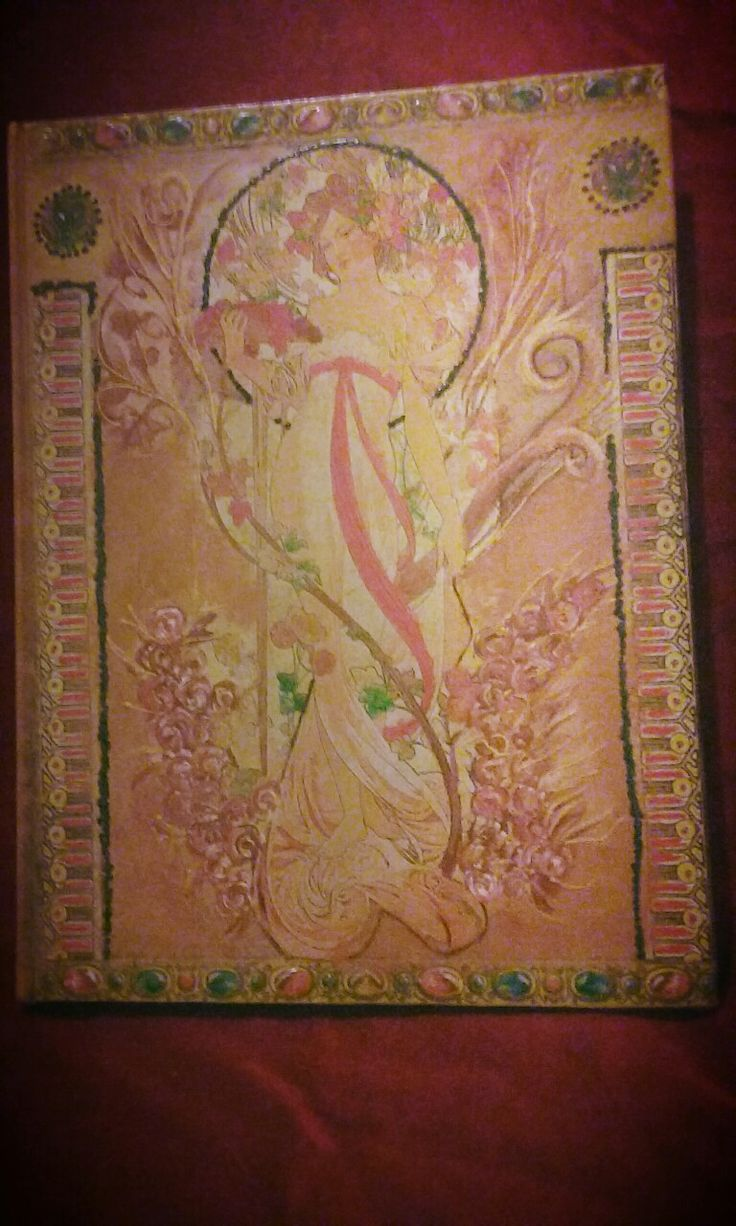 Notebook. Decoupage on the cover