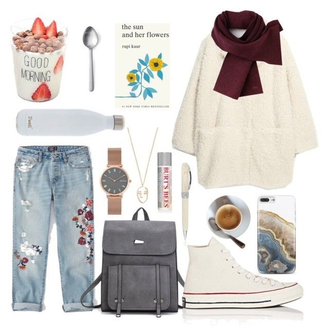 """""""January outfit"""" by koczuba-anna on Polyvore featuring Abercrombie & Fitch, Amber Sceats, Nanette Lepore, Lacoste, S'well, Visconti, Converse, Skagen, Menu and Simon & Schuster"""