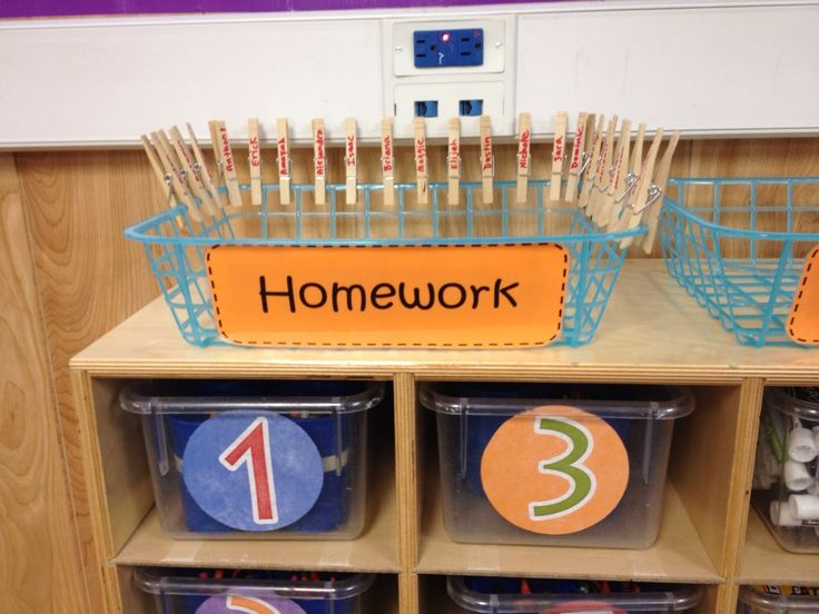 An idea for turning in homework...remove their clothespin when they turn it in.