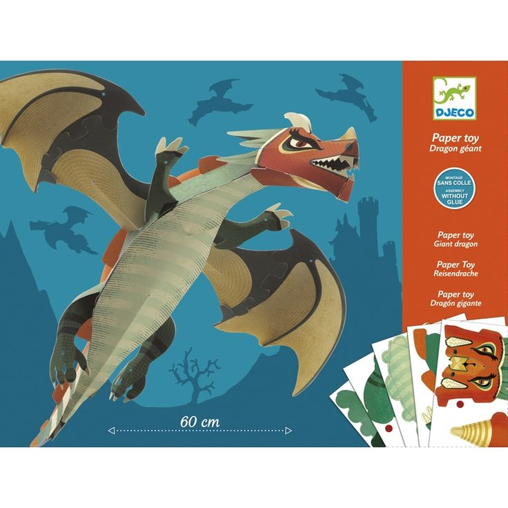 Óriás sárkány- papírhajtós készlet (Djeco) | Pandatanoda.hu Játék webáruház