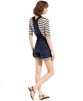 Grane Juniors Shorts, Dark Wash Denim Overalls - Juniors Dresses - Macys