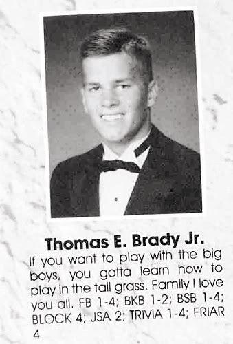 Tom Brady high school senior picture.