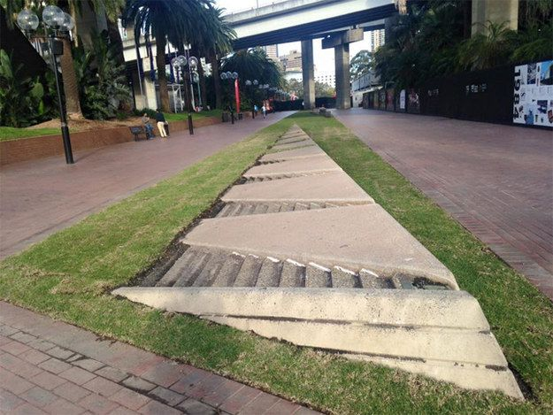 Remember that awesome water feature at Darling Harbour? That one you�d try and jump over without getting soaked or smashing your face on the concrete? Well, we�ve got some bad news for you. It�s been filled in.   This Photo Will Ruin Your Childhood If You Grew Up In Sydney