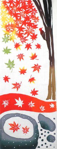Autumn leaves tenugui 紅葉