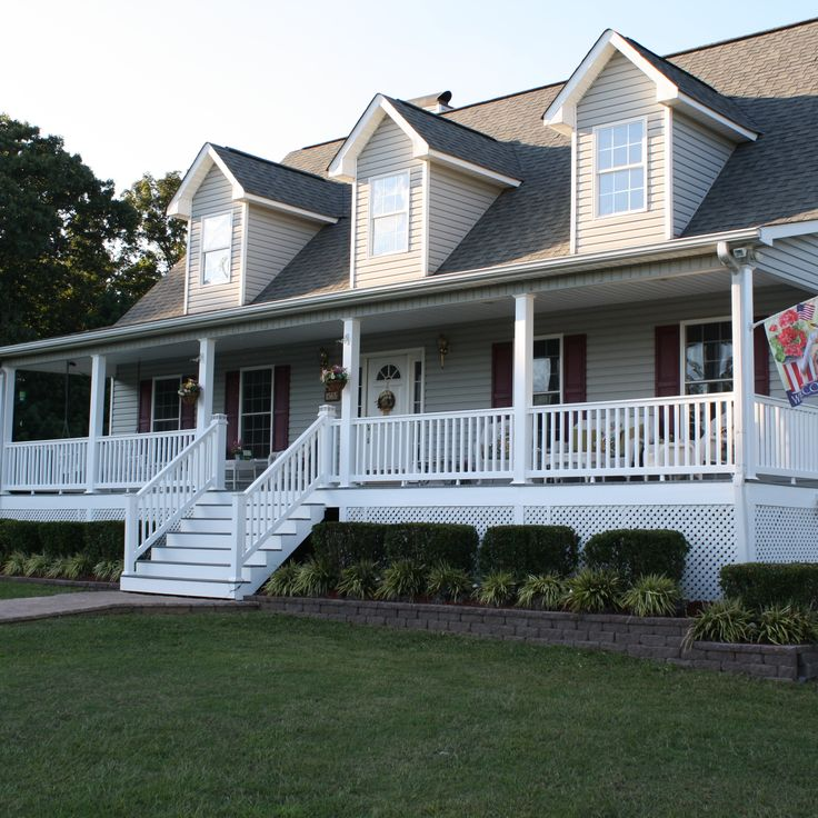Adding classic vinyl #railing to porches, decks or steps adds character to a home