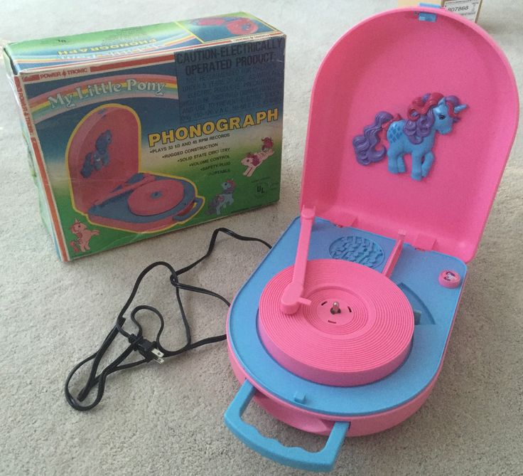 RARE Vintage 1984 Original My Little Pony Vinyl Record Player Phonograph Box
