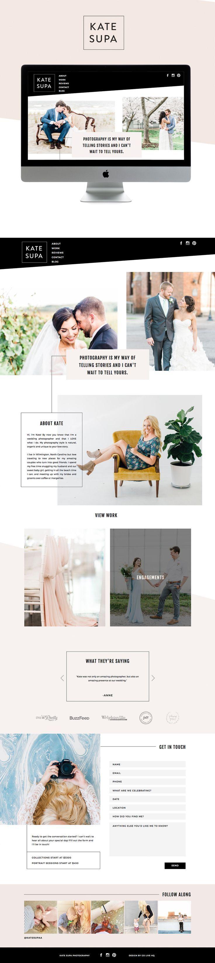 clean, minimal yet bold showit website design | designed by: http://golivehq.co