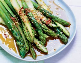 East-West Marinated Asparagus Recipe   Vegetarian Times