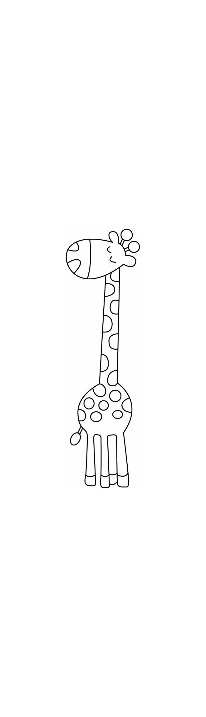 Coloriages Animaux Girafe 01