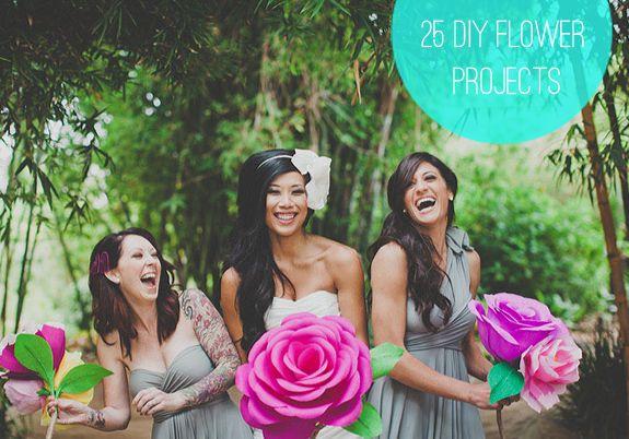 25 DIY Flower Projects @ Henry Happened: Crepes Paper Rose, Rose Flowers, Giant Paper Flowers, Giant Flowers, Ideas, Flowers Bouquets, Crepes Paper Flowers, Wedding, Diy