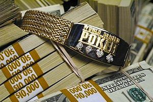 World Series of Poker bracelet - eyes on the prize!