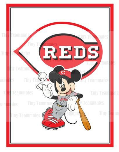 Mickey Inspired Cincinnati Reds Baseball