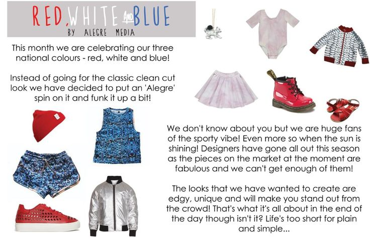 Alegre Media's Red, Wite and Blue fashion feature in Little Revolution Magazine http://www.thelittlerevolution.co.uk/little-revolution-july/ #alegremedia