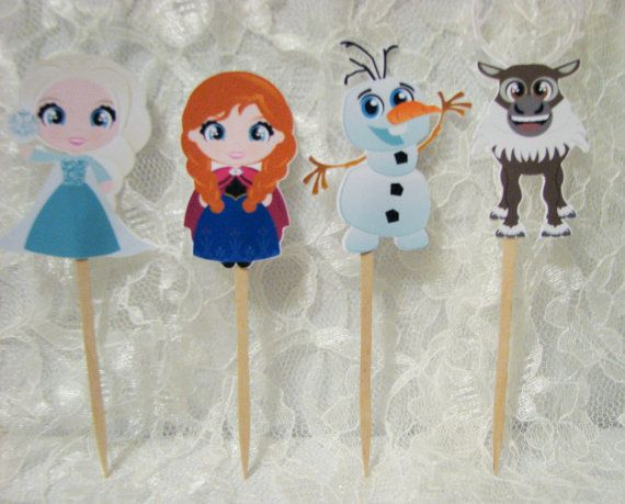 Hey, I found this really awesome Etsy listing at https://www.etsy.com/listing/185013311/12-cute-frozen-cupcake-toppers-disney